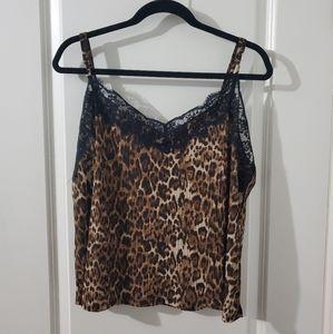 Leopard Print Lacey Cami